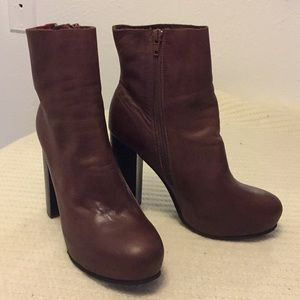 Jeffrey Campbell brown leather boots